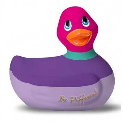Фиолетово-розовый вибратор-уточка I Rub My Duckie 2.0 Colors