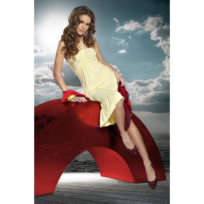 Легкое короткое пляжное платье с воланами