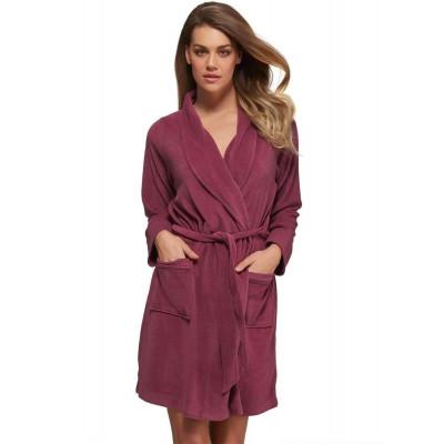 Мягкий велюровый халат свободного кроя